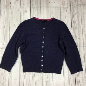 Boden Girls Cardigan Size 8 Solid Purple Buttons